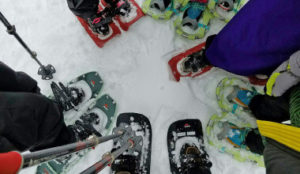 Different types of snowshoes