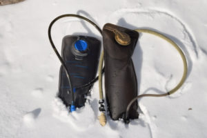 Preventing hydration packs from freezing in cold weather