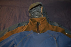 Layering system for winter hiking