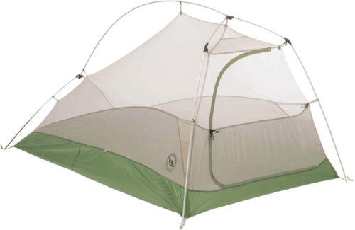 The Big Agnes Seedhouse Tent offers minimal pole structure and lots of ventilation for summer camping.
