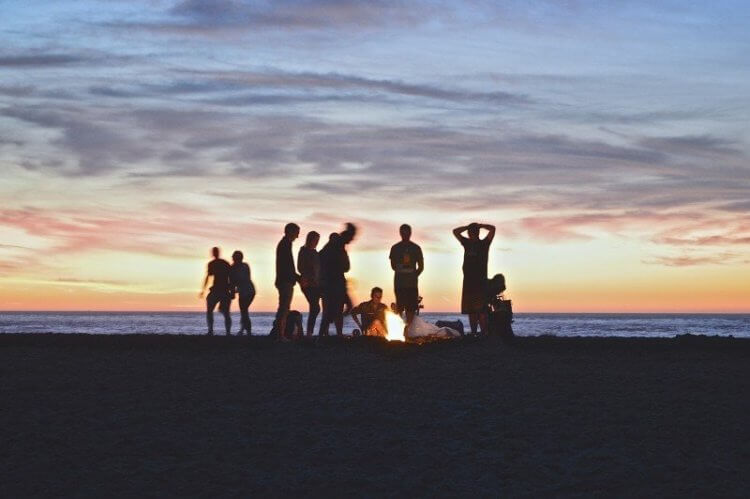 camping under 18 with friends