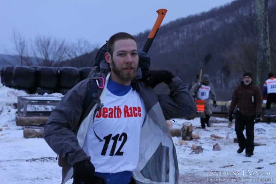 First day of the Winter Spartan Death Race after chopping wood