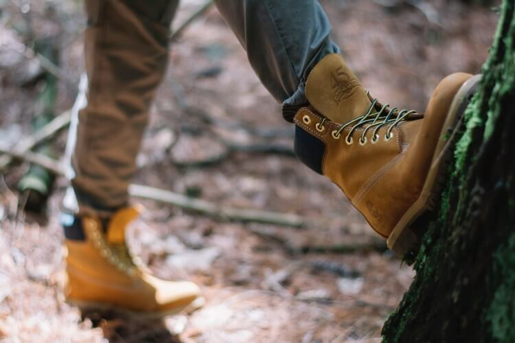 Hiking in Timberland boots