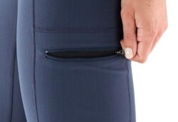 Leggings with zipper pockets
