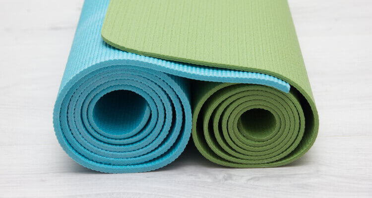 Thick yoga mat for camping