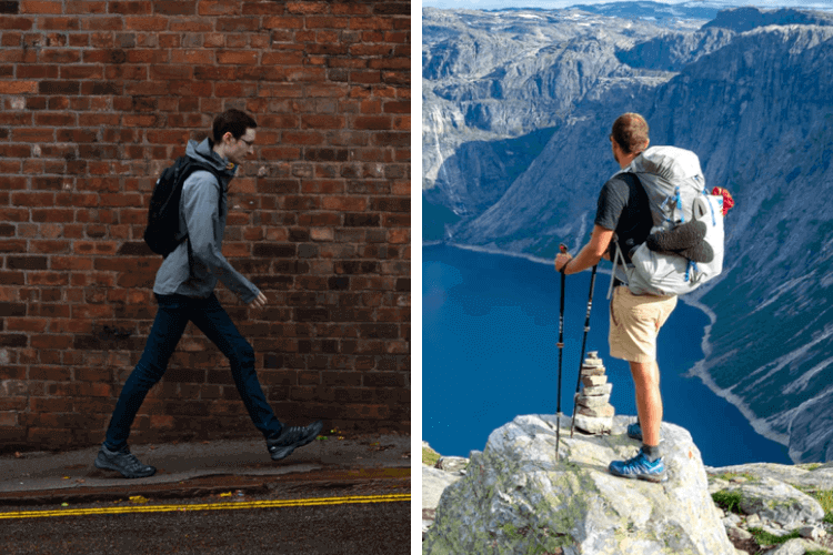 Hiking vs Walking
