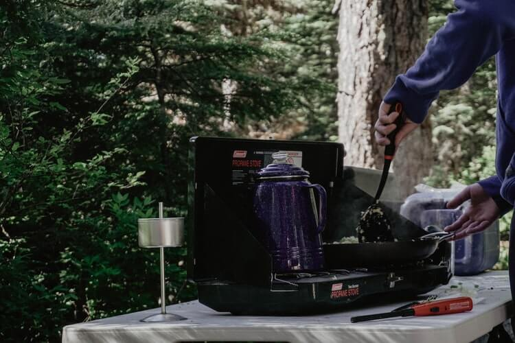 Camping with Coleman stove