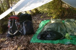 Camping without a tent