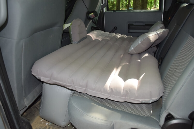 Inflatable car mattress for camping